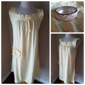 Diva Yellow Polka Dot Sun Dress & Bangle